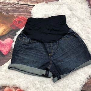 Motherhood maternity jean shorts